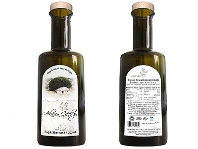 Akarca Ciftligi 250ml Cold Pressed Certified Organic Extra Virgin Olive Oil