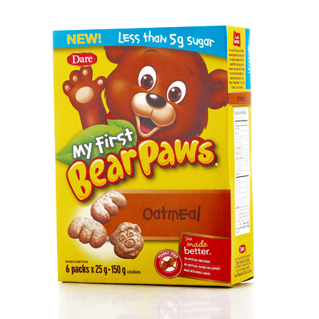 Brave bear and oatmeal cookies