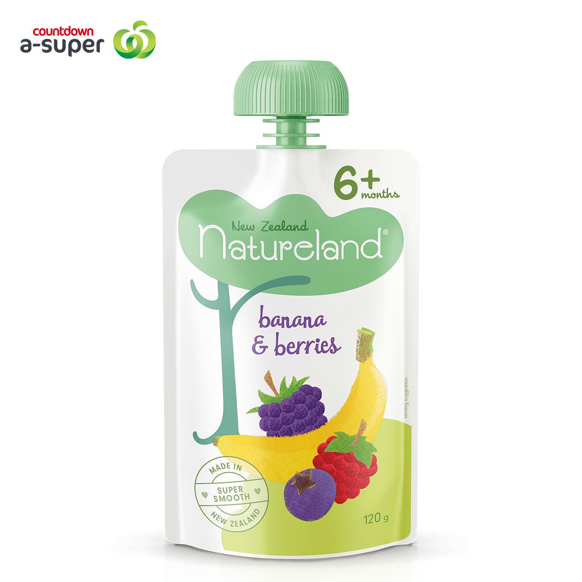 Natureland Baby Food Banana & Berry Mix Puree 120g