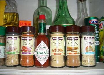 All kinds of condiments