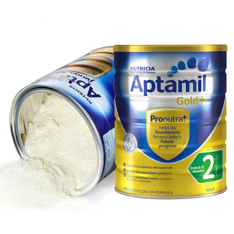 Aptamil loves his 3 pack 900g/ cans of infant formula milk powder.