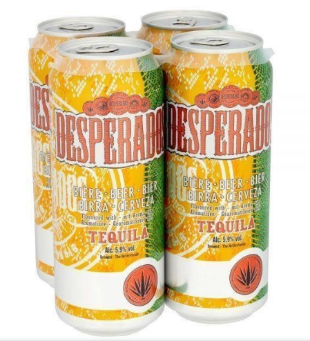 Desperados 500ml can and 330ml botltle