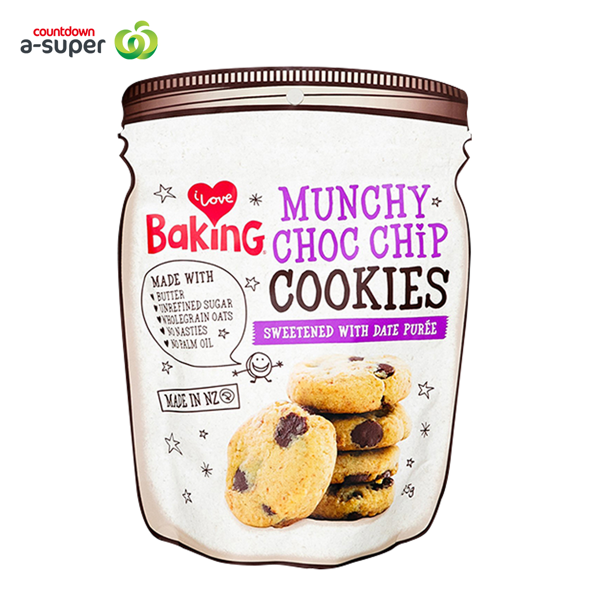 I Love Baking Coconut Chocolate Cookie 185g