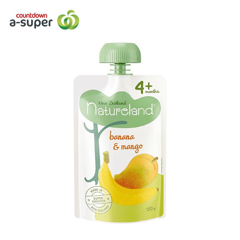 Natureland infant feeding banana mango mixed fruit paste 120g