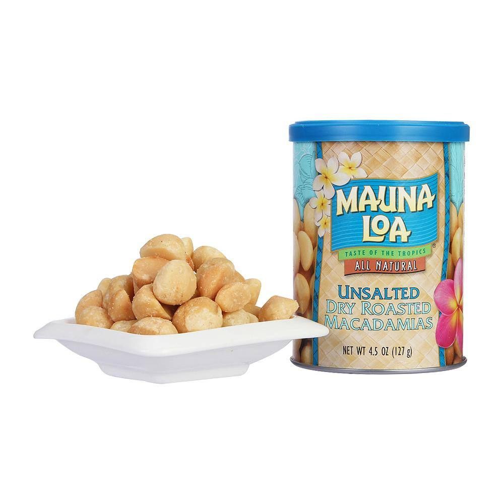 Buy unsalted dry roasted macadamias